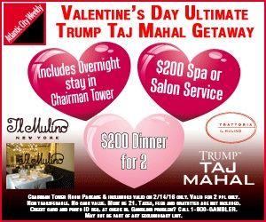 Trump Taj Mahal's Ultimate Valentine's Day Getaway