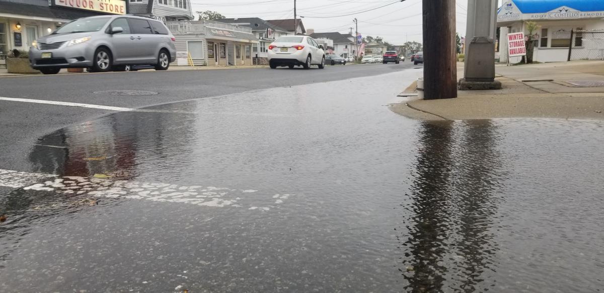 Ventnor Coastal Flooding from Hurricane Dorian