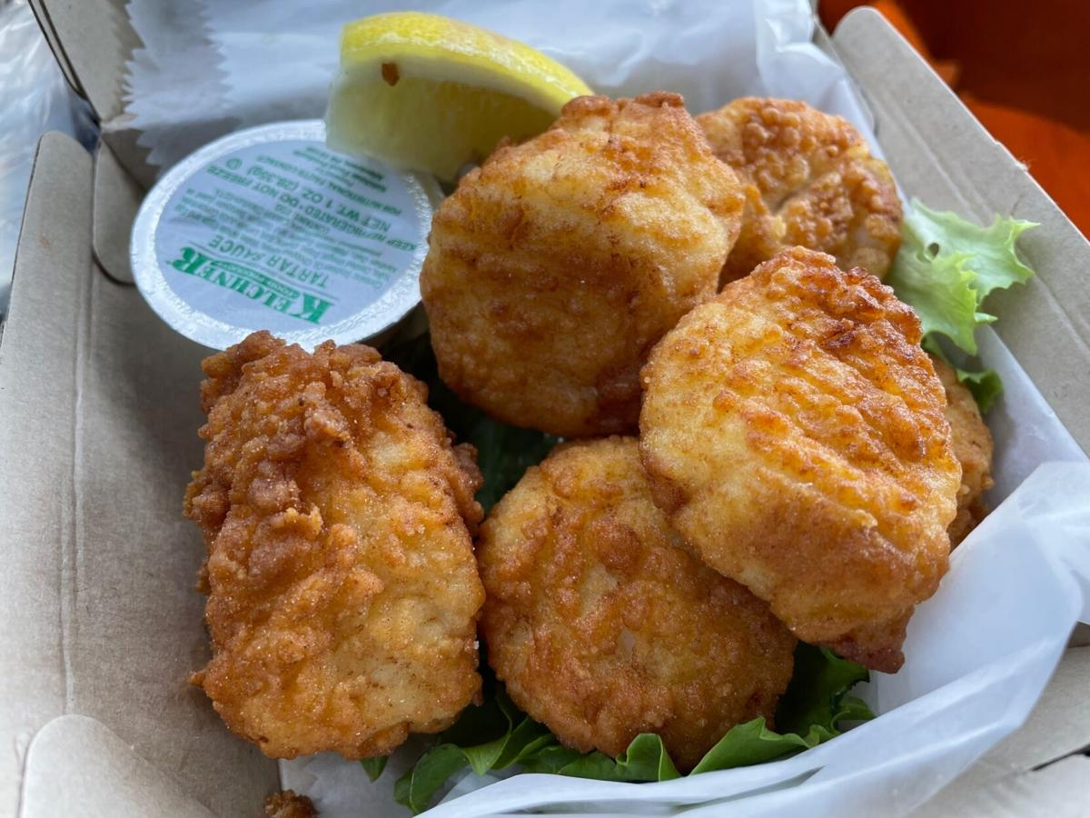 hooked up scallops