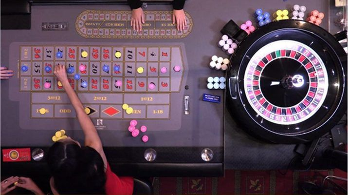 multi-camera Dual Play Roulette table