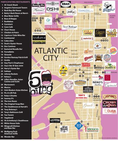 Participating Atlantic City Restaurants - 50 Bites +