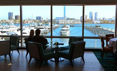 The Chart House At Golden Nugget Atlantic City Overlooks This Picturesque Marina