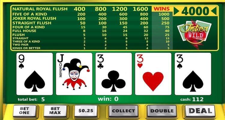 Joker's Wild video poker
