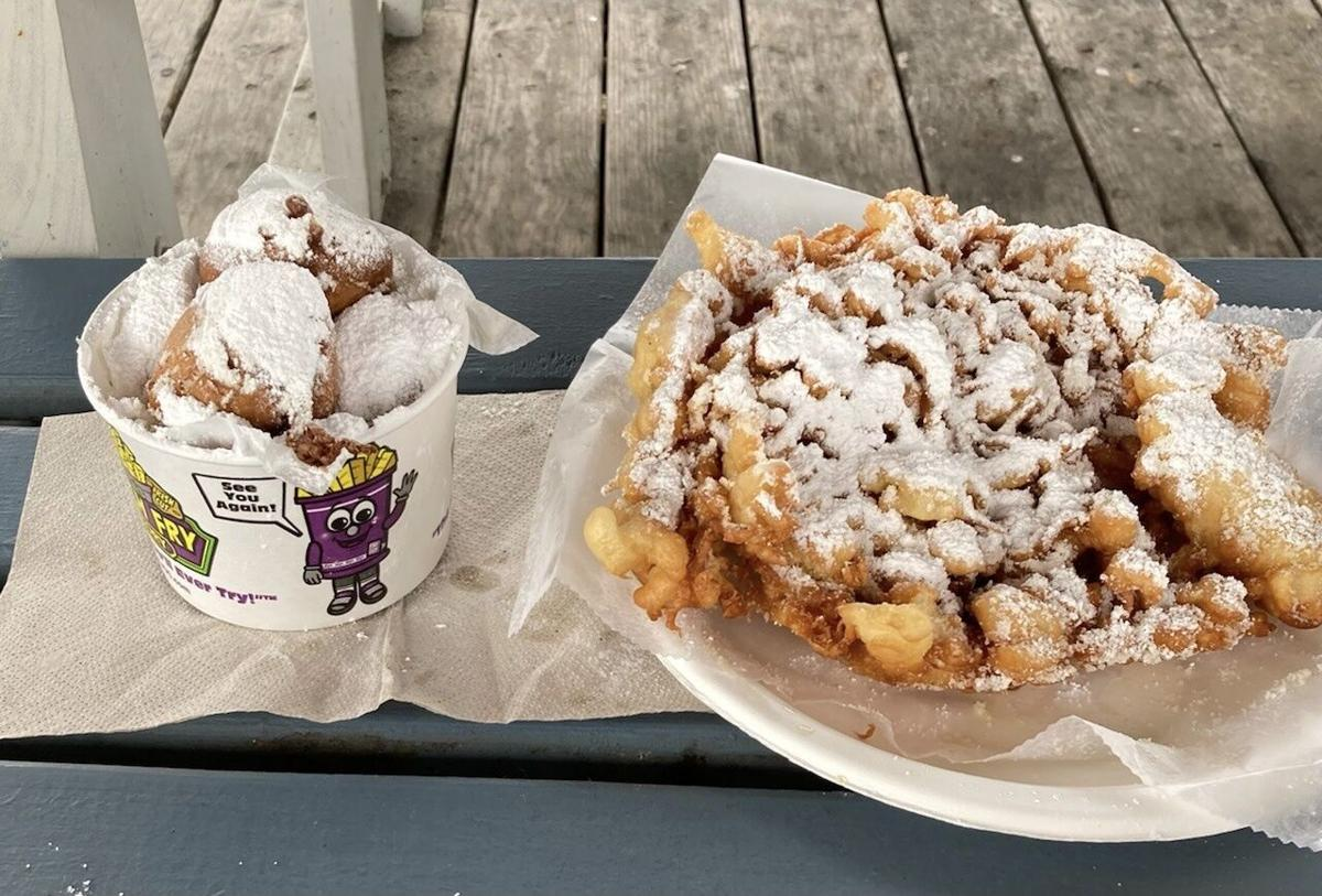 Jilly's funnel cake and fried reese's