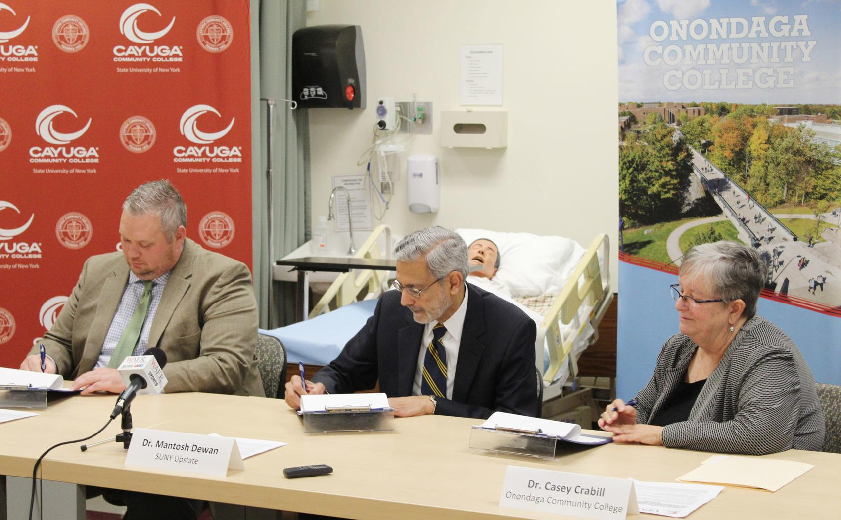 Cayuga, Onondaga community college nursing programs partner with SUNY Upstate