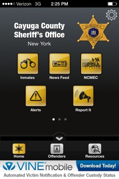 New app allows users to track inmates in the Cayuga County