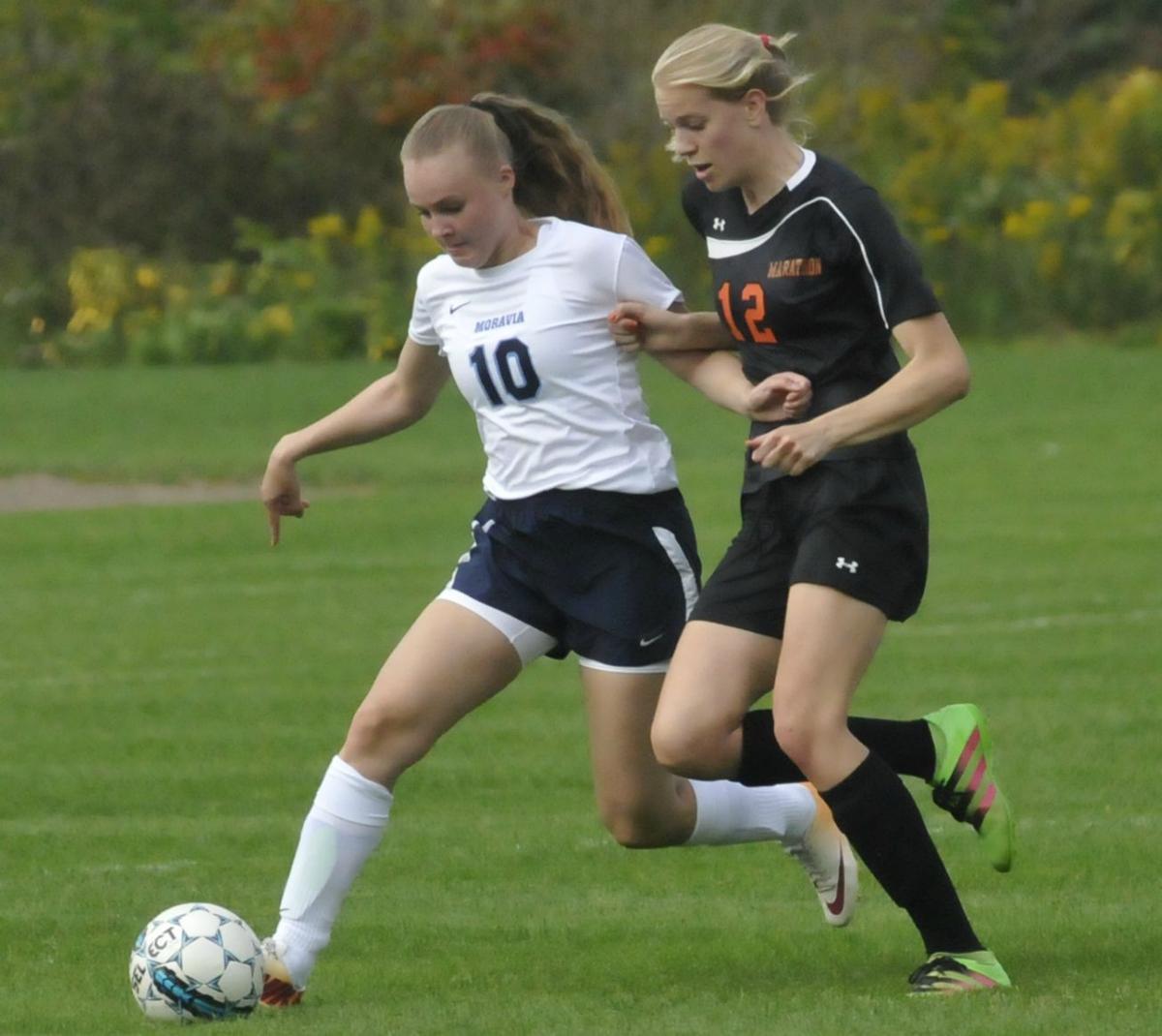 Moravia girls soccer