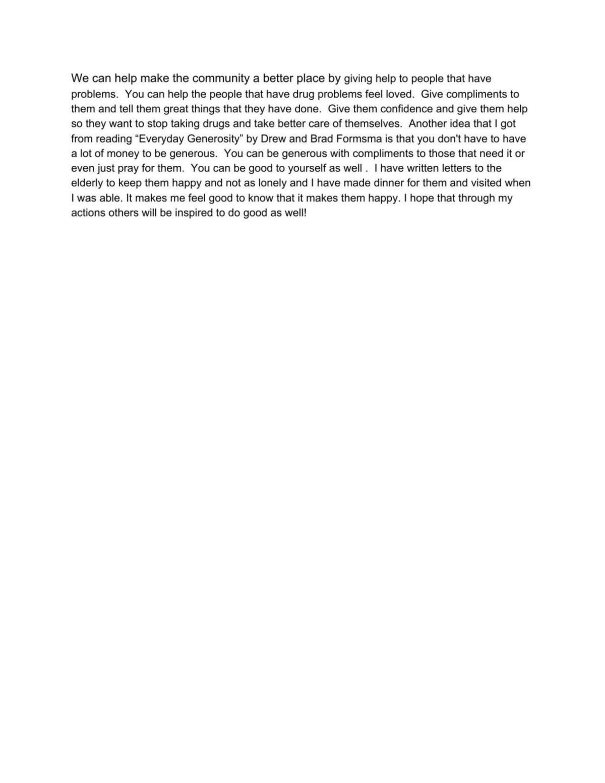Cate Burroughs essay