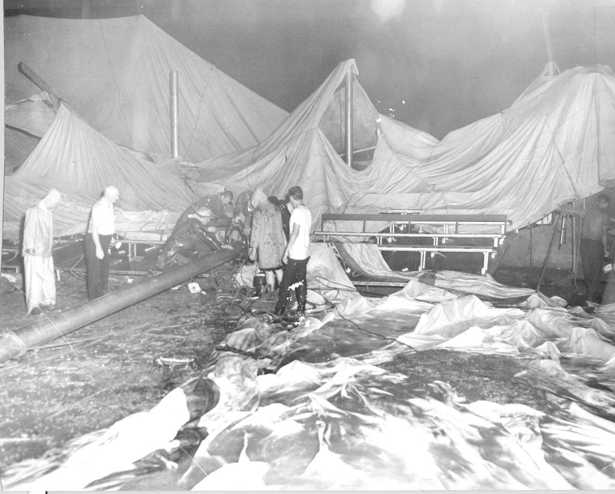 Circus tent collapse