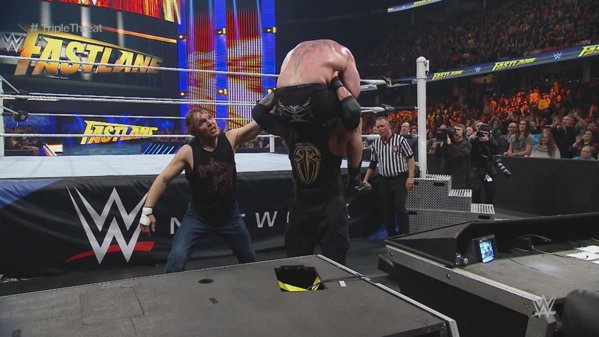 Wwe Fastlane Winners And Losers Roman Reigns Gets Triple H At Wrestlemania 32 Sasha Banks