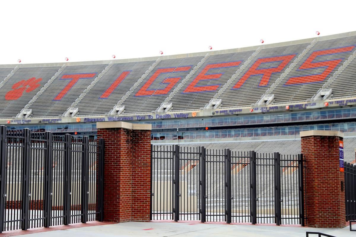 Empty stands inside of Clemson Memorial Stadium on the campus of Clemson University on June 10, 2020 in Clemson, South Carolina.