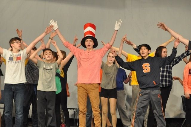 Learning the basics: Skaneateles Middle School actors master performing skills with 'Seussical Jr.'