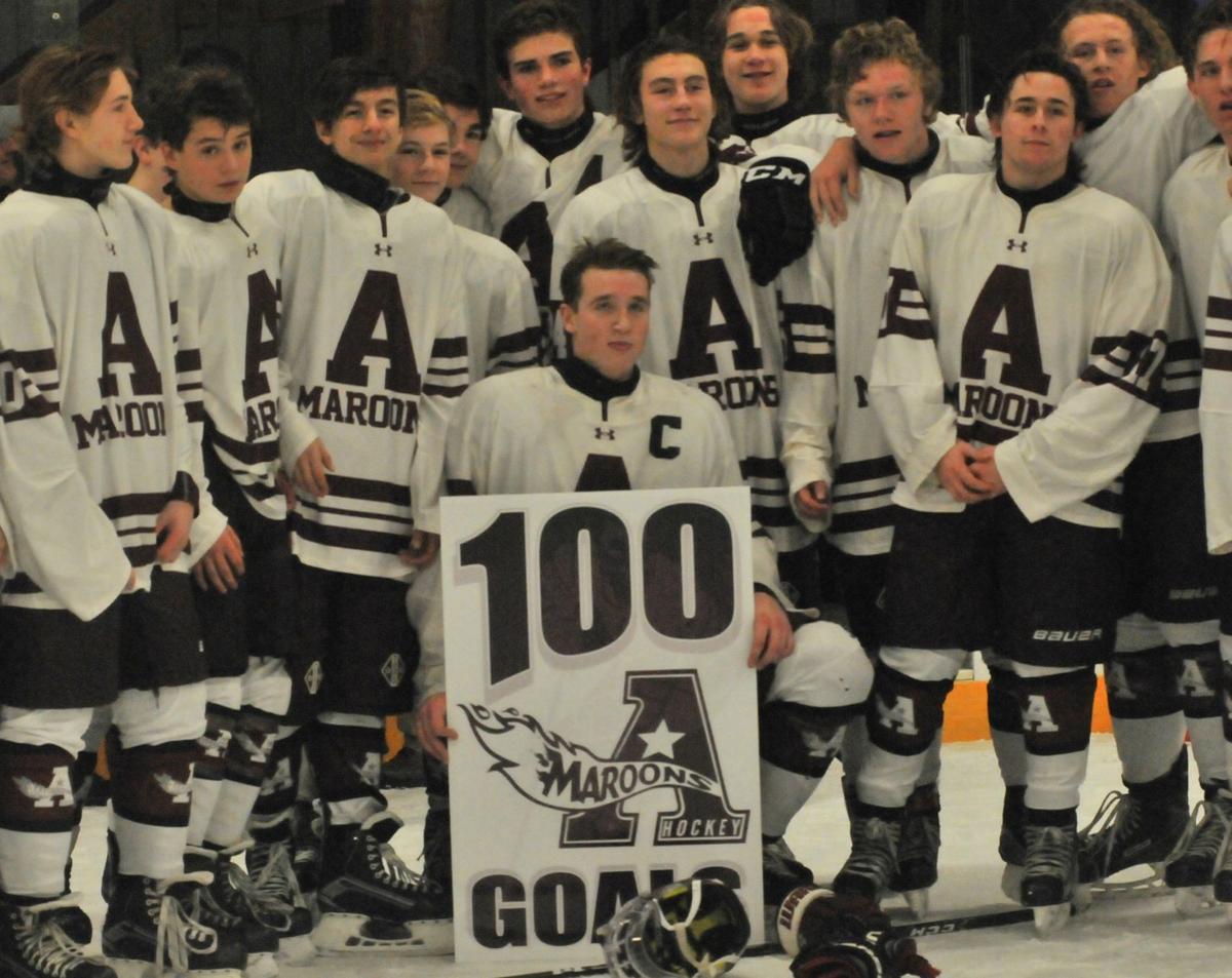 Auburn Hockey Morin 100 goals