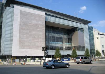 The Newseum, pictured on Sep. 5, 2007, a 250,000-square-foot museum of news. Located at Pennsylvania Avenue and Sixth Street in Washington, D.C., the Newseum features galleries, theaters, retail spaces and visitor services, offering a unique environment that takes museum-goers behind the scenes to experience how and why news is made.
