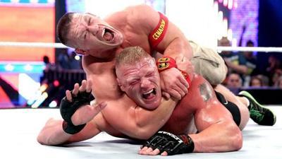 wwe why john cena vs brock lesnar at night of champions should
