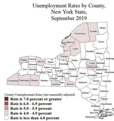 September 2019 unemployment rates