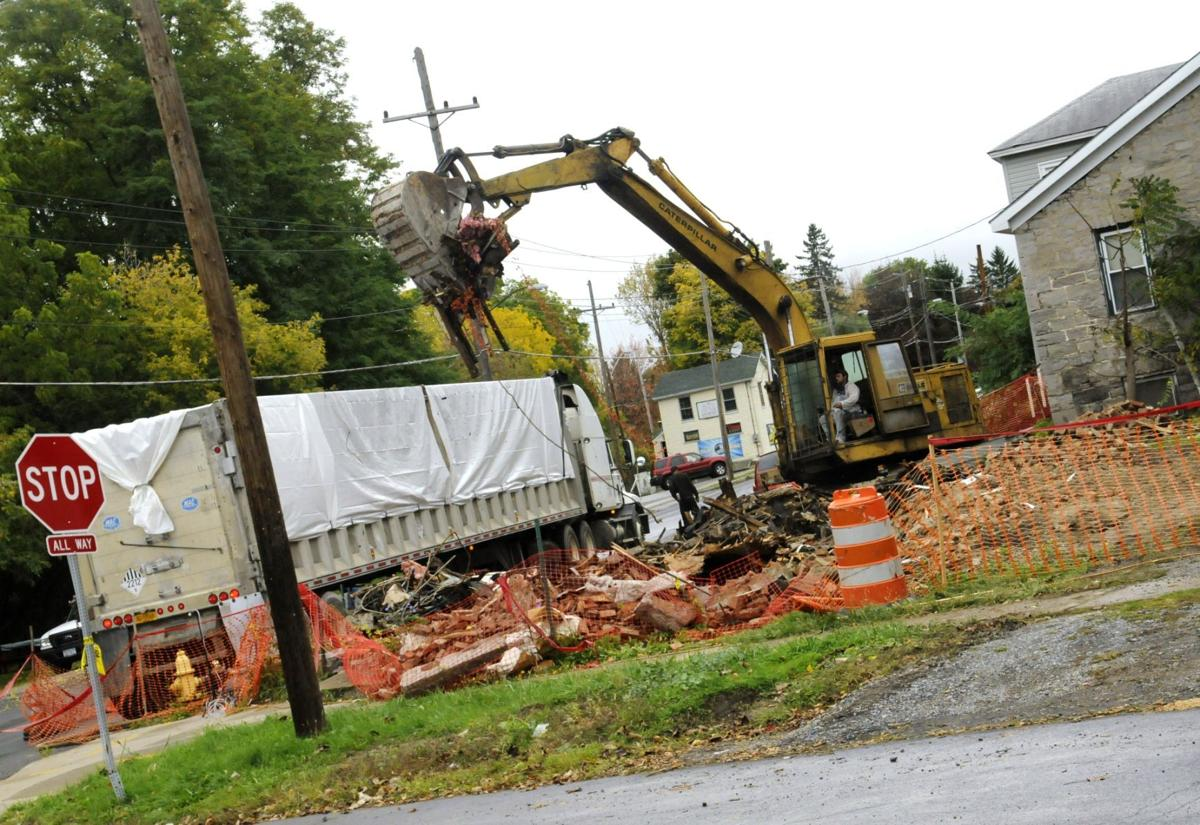 Wall Street structure torn down