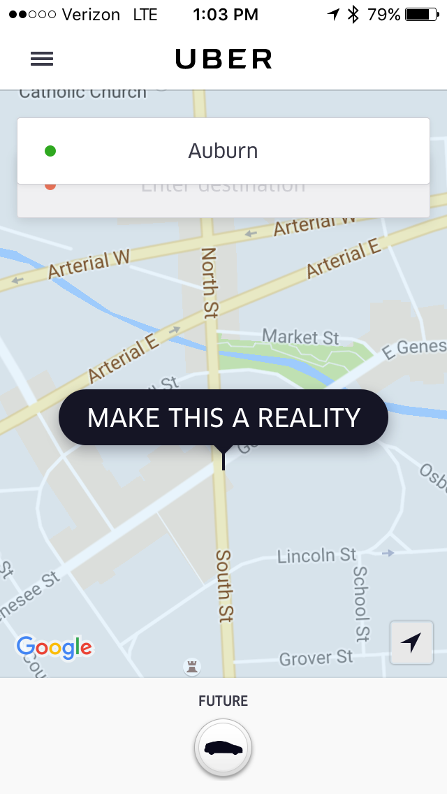 Uber screen shot