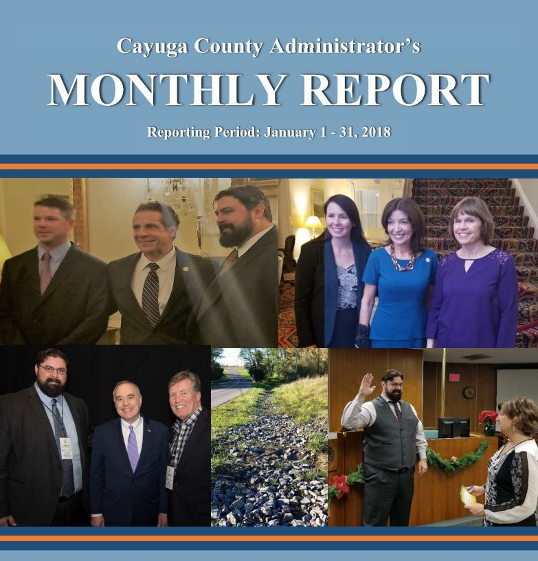 Cayuga County Administrator's Monthly Report