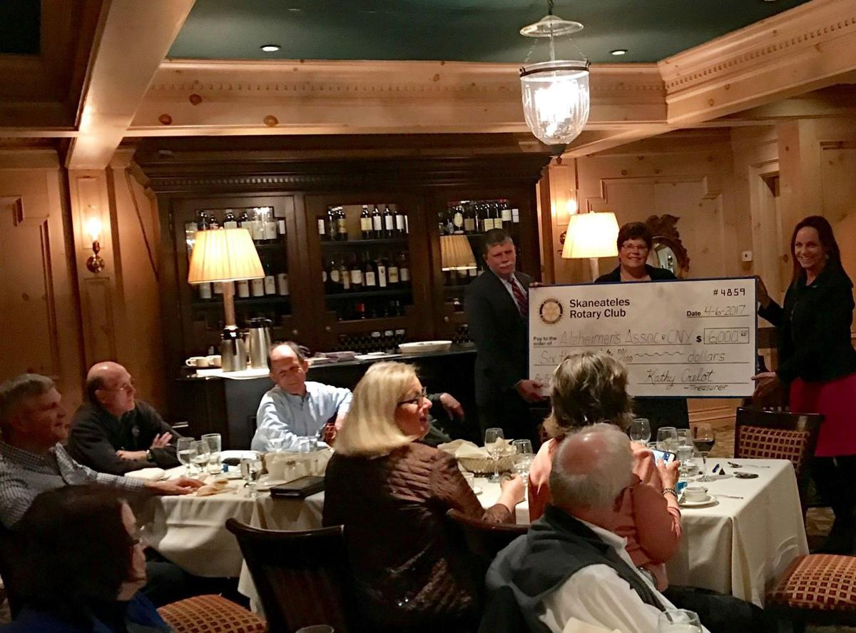 Skaneateles Rotary Club gives International Women's Day proceeds to Alzheimer's Association