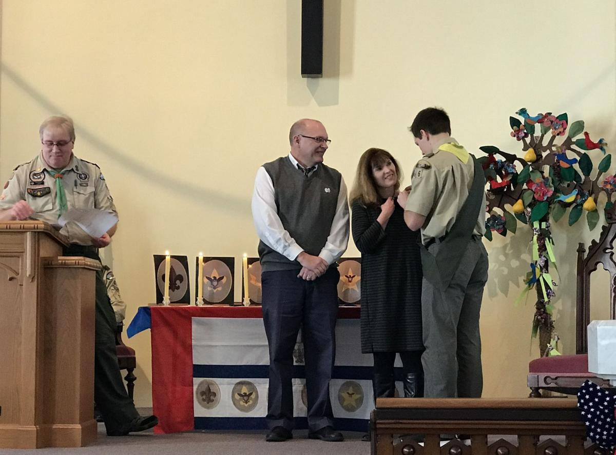 Member of Marcellus Boy Scout Troop 66 attains Eagle rank during ceremony