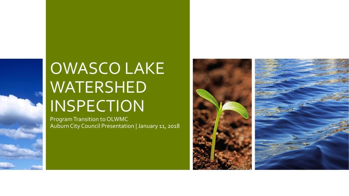 Owasco Lake Watershed Inspection Program presentation