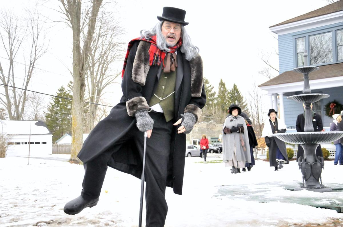 Skaneateles Ny Charles Dickens Christmas 2020 Scrooge spreads Christmas cheer on final day of Dickens' festival