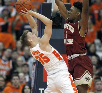 Syracuse Goes Up Big Holds On To Defeat Boston College Local