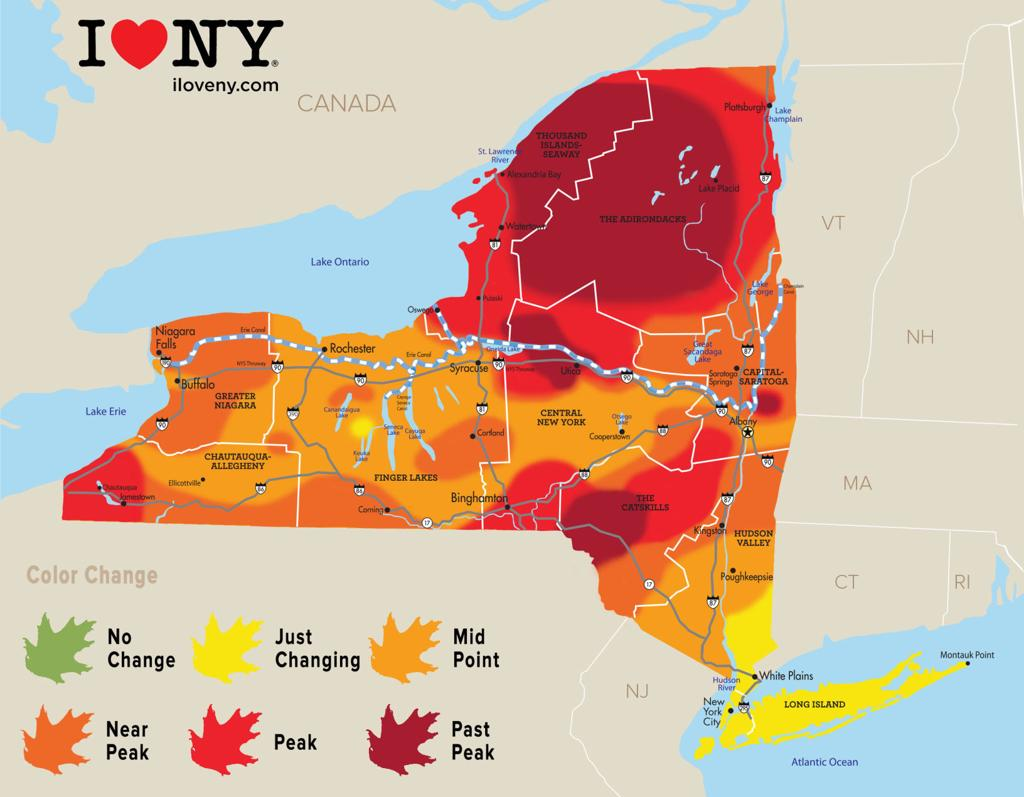 Map Of Greater New York City Area.New York State Fall Foliage Report For Week Of Oct 17 Local News