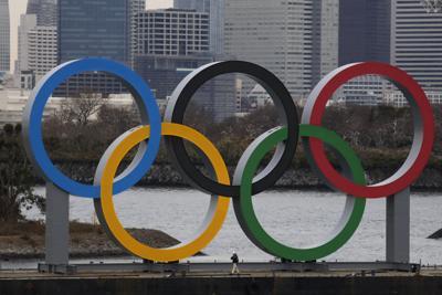 APTOPIX Olympics Tokyo 2020 Olympic Rings