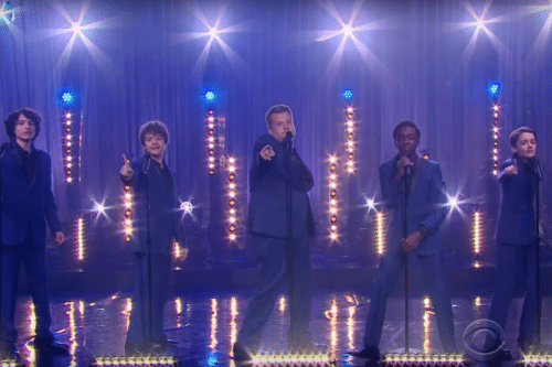 The 'Stranger Things' Kids Performed A Motown Medley With James Corden