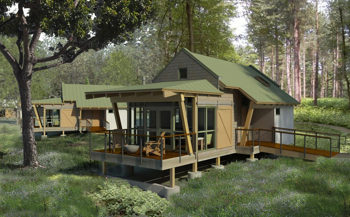 Construction begins on 2 9m cottages at sampson state for Sampson state park ny cabins