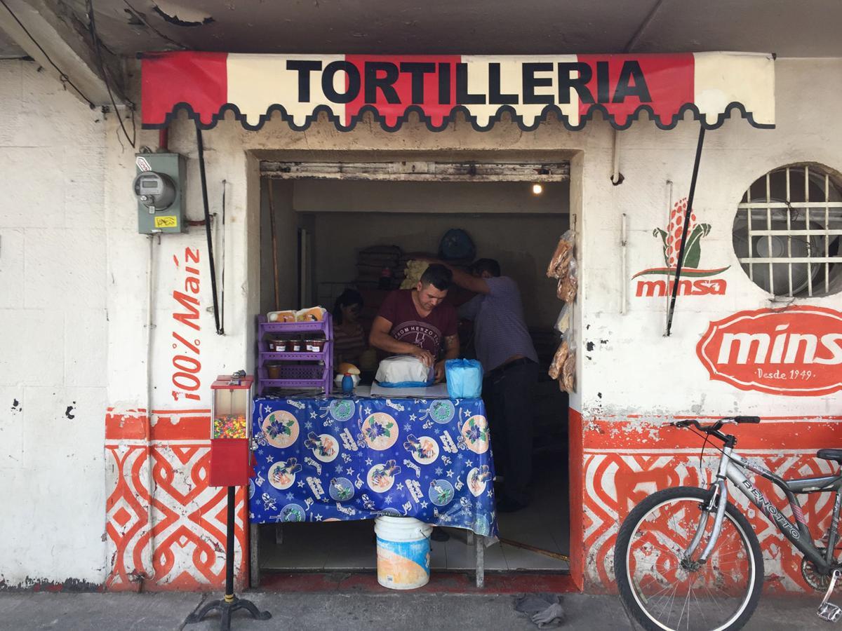 Tortillas are a specialty in Roma Sur.