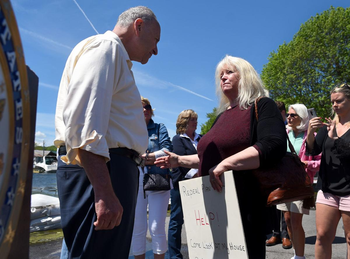 Schumer tours flood damage 1.JPG
