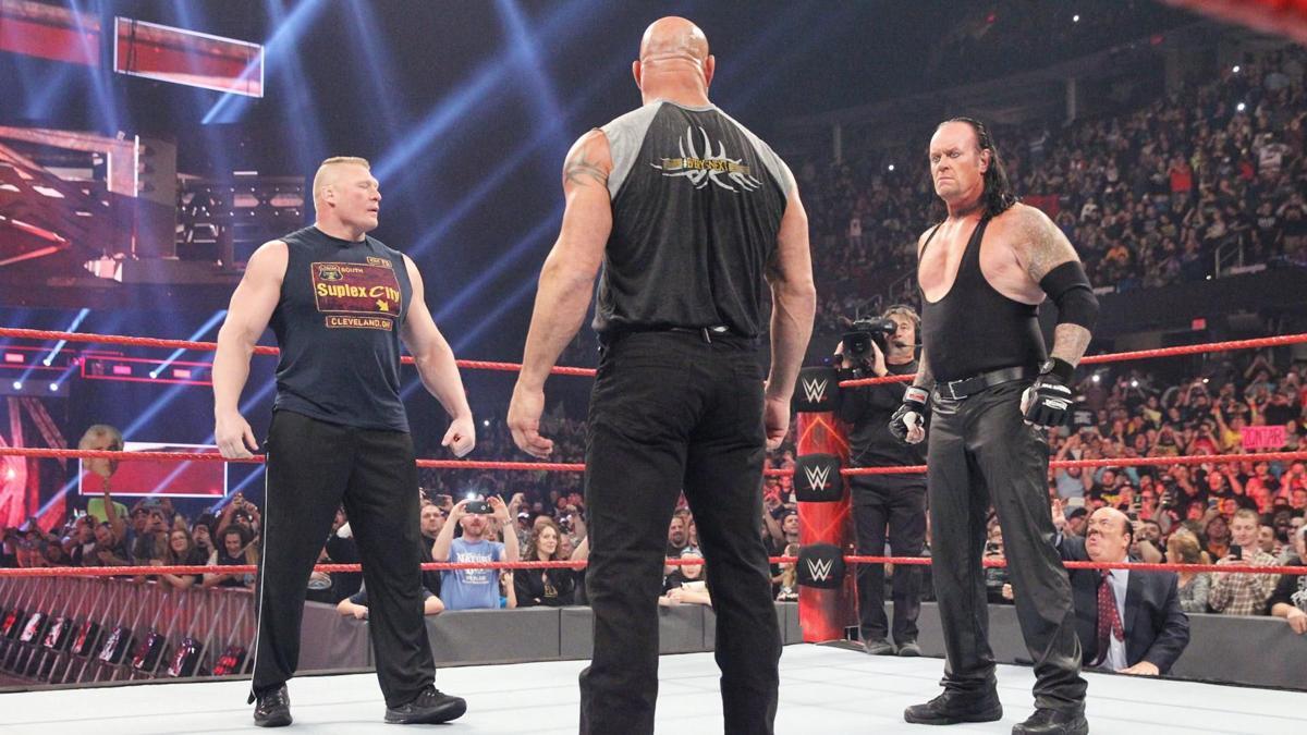Brock Lesnar Goldberg The Undertaker