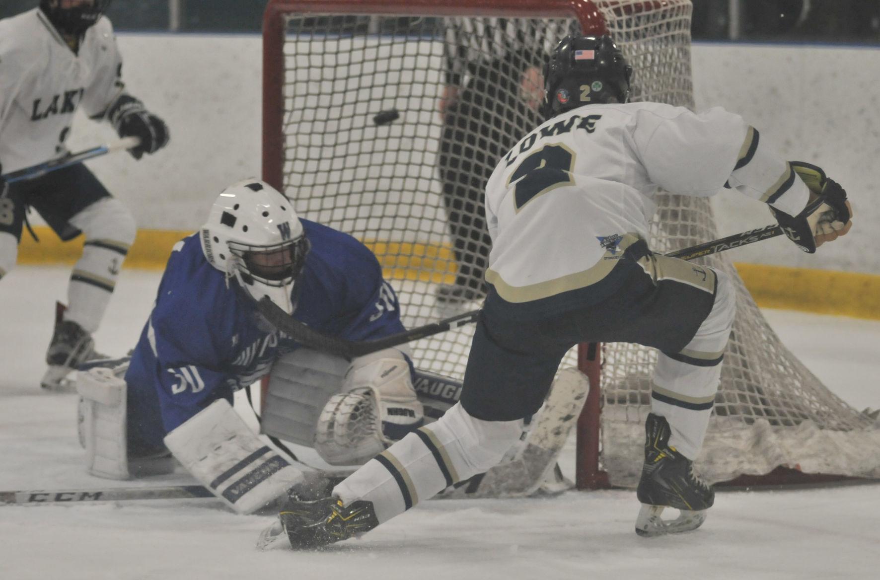 Hockey teammates banging hard inside the locker room
