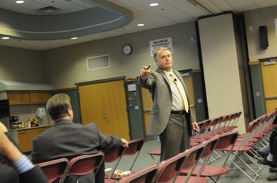 Bill Daggett during presentation