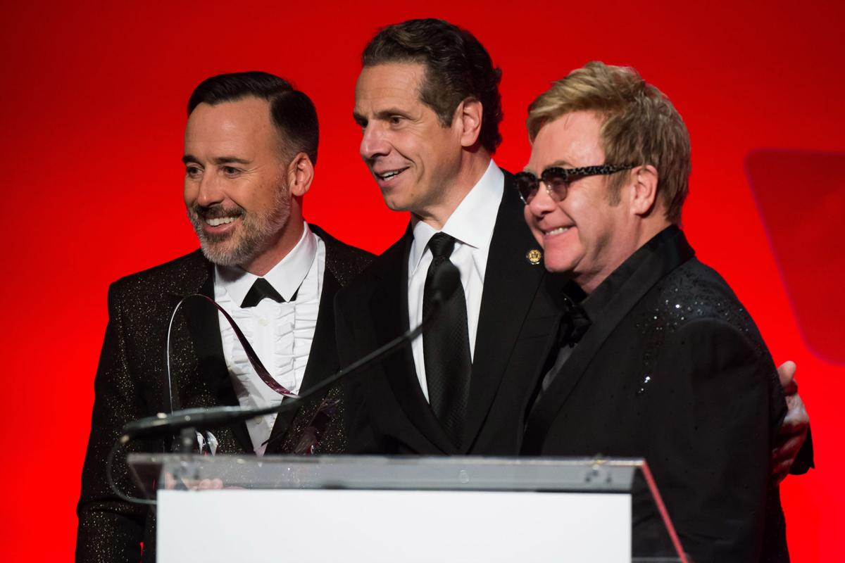 Elton John, David Furnish, Andrew Cuomo