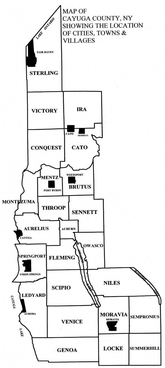 Cayuga County Map