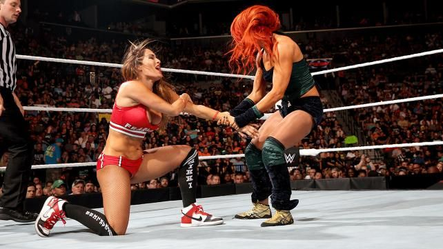 Nikki Bella Becky Lynch