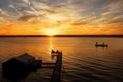 Sunrise on the Cayuga Lake