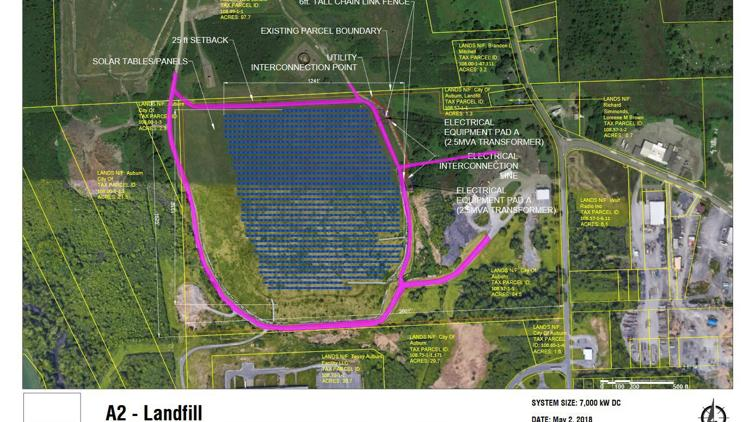 Auburn City Council to consider solar array on city landfill