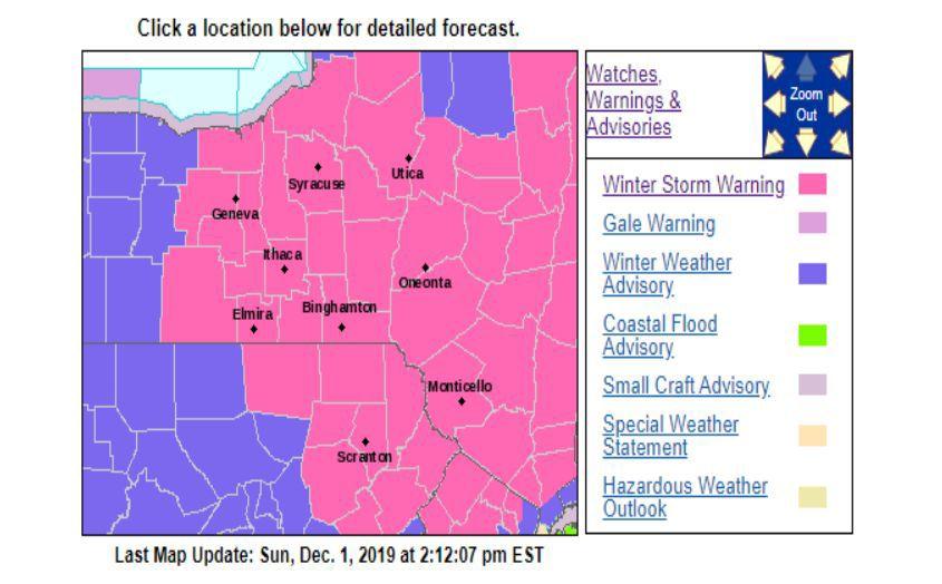 Winter Storm Warning Dec 1