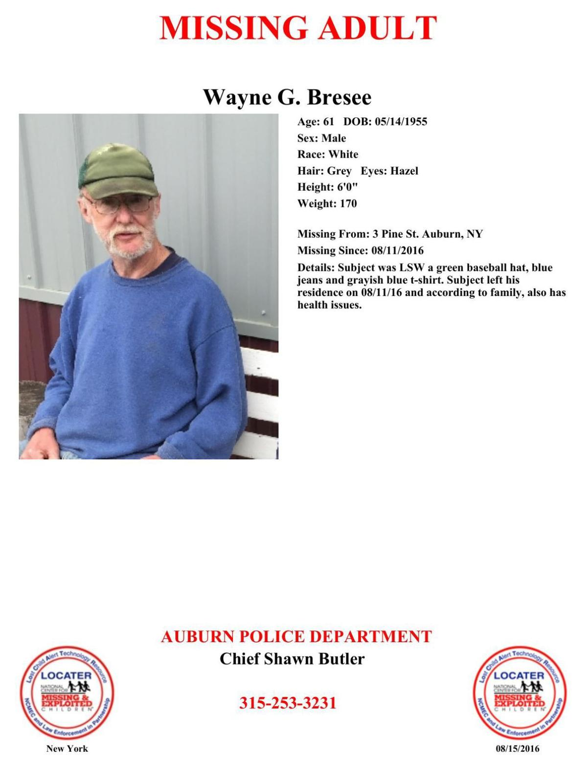 Missing: Wayne Bresee