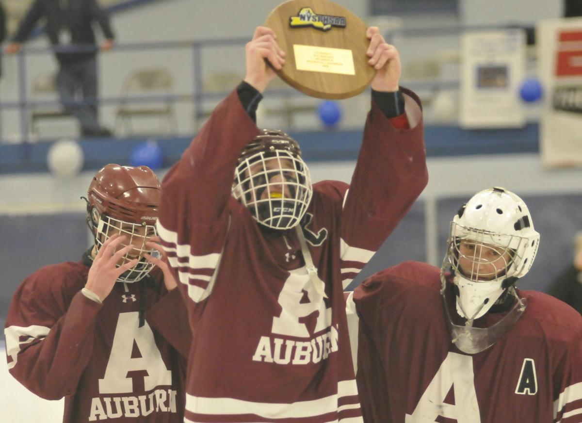 Buffalo Bound Auburn Hockey Defeats Ogdensburg Free Academy To
