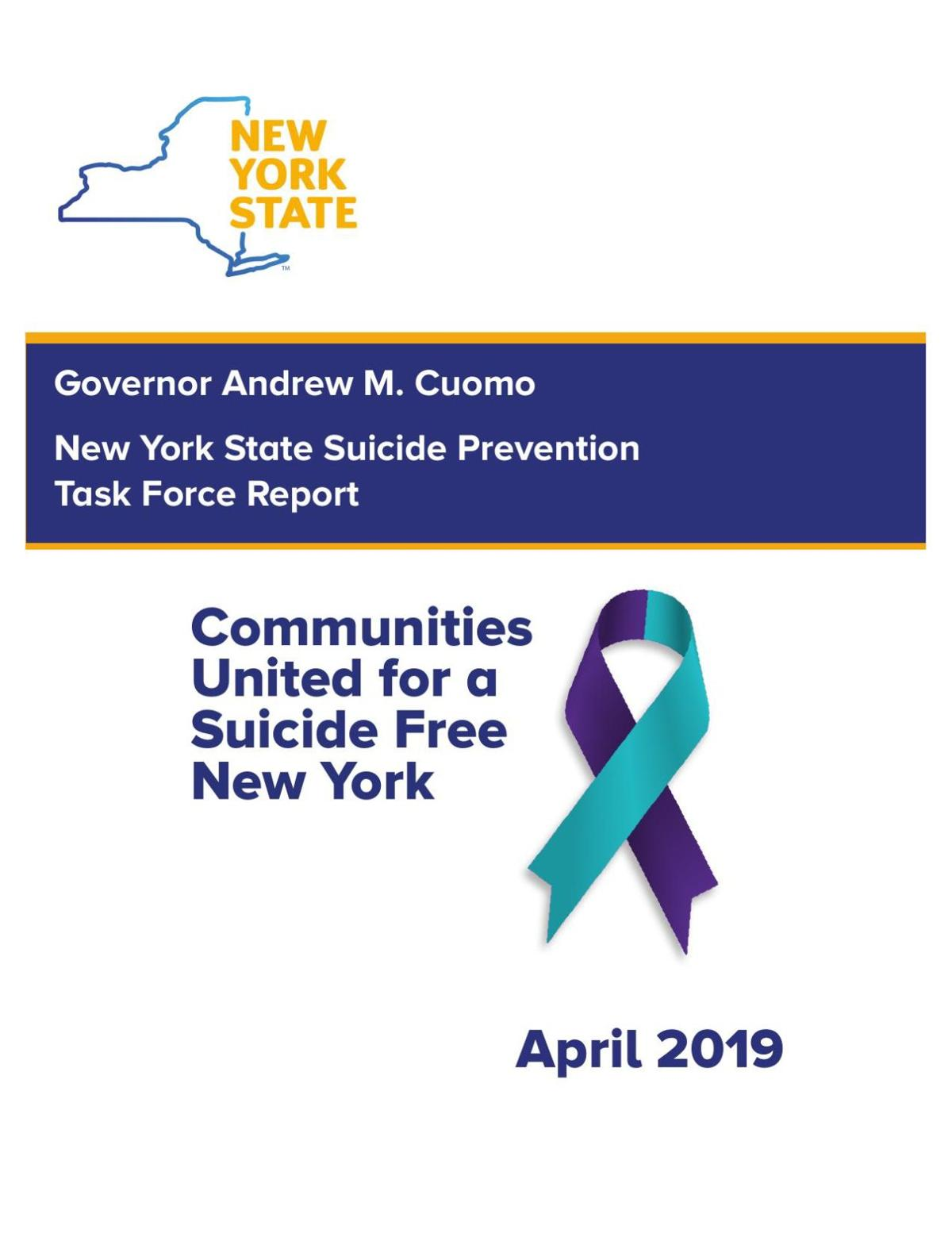 NYS Suicide Prevention Task Force Report