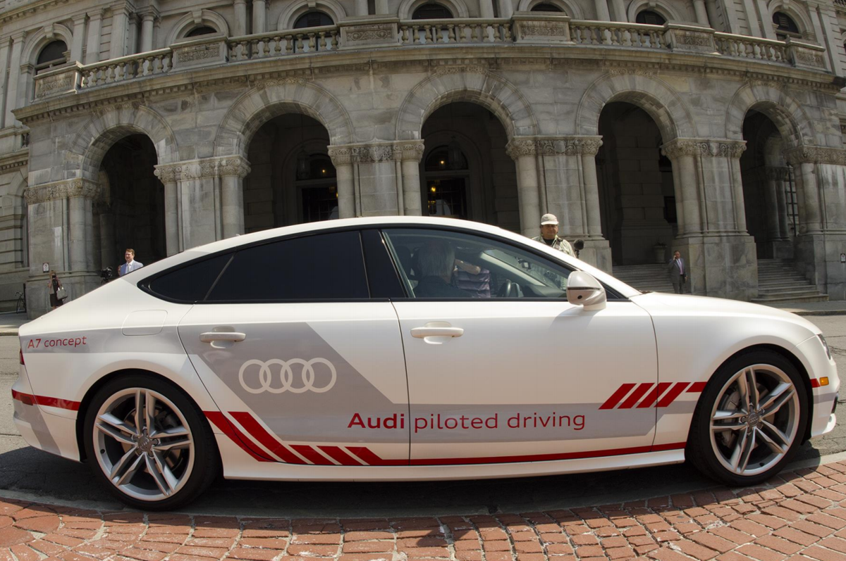 Audi Conducts First Driverless Vehicle Test In New York Video - Audi driverless car