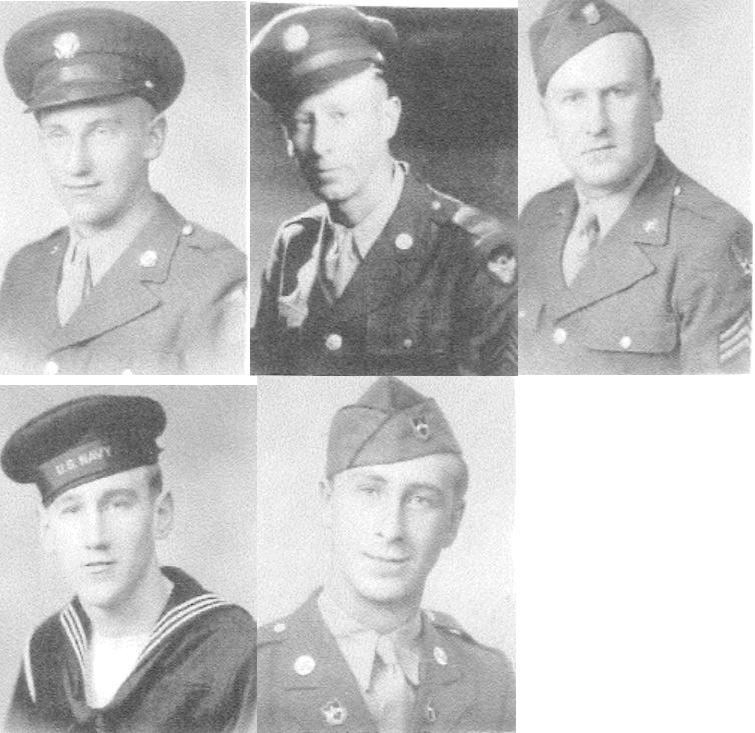 5 Tarby brothers- Top L to R - John - Edward - Joe - Bottom L to R - Russell - Walter.JPG