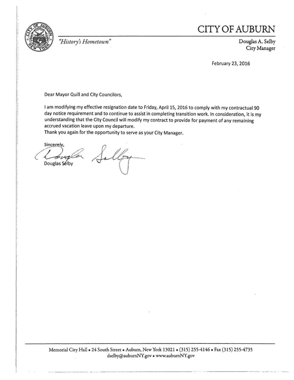 Auburn City Manager Doug Selby\'s resignation letter: Feb. 23 ...