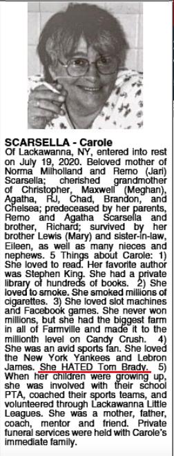 Carole Scarsella obituary
